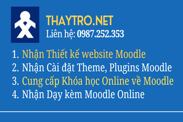 Nhan day moodle online
