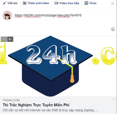 Moodle Vietnam: Thay đổi cách hiển thị thumbnail khi chia sẻ link